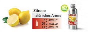 @ Zitronenschale Aroma natürlich (1000g)