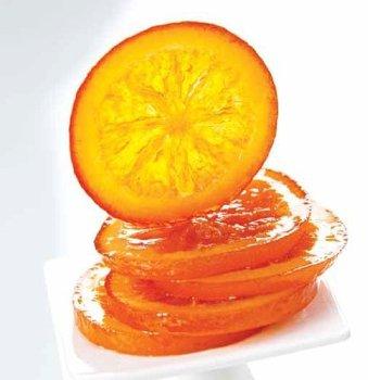 Orangen-Scheiben kandiert & abgetropft groß