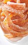 Orangenschalen-Stäbchen/-Streifen kandiert & bestäubt