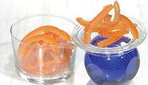 @ Orangenschalen-Stäbchen/-Streifen kandiert & abgetropft