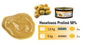 @ Pralinen-Masse Haselnuss 50%