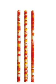 Schoko-Dekor Stäbe weiß mit 3 Motiven orange (126 Stk)