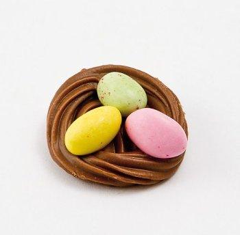 @ Osternest mit 3 Ostereiern bunt (lose Ware)