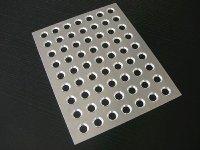 Füll-/Verschließplatte aus Alu, für Trüffelhohlkugeln