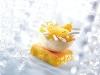 Dessert-Schalen Halbkugel weiß Motiv gold (60 Stk)