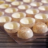 Dessert-Schalen Halbkugel klein weiß Motiv braun (210 Stk)