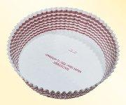 Gebäckkapseln weiß/rotbrauner Ring (1000 Stk)