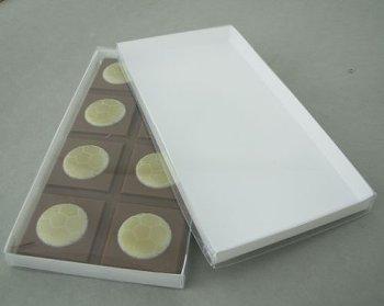 @ Tafelverpackung für 100g Tafel weiß-transparent (50 Stk)