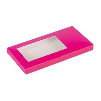 Tafelschokoladen-Verpackung pink/fuchsia (2x25)