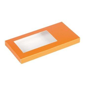 Tafelschokoladen-Verpackung orange (2x25)