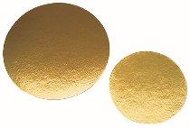 Papp-Tortenunterlagen/-Scheiben rund gold 16cm (100 Stk)