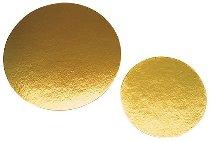 Papp-Tortenunterlagen/Scheiben gold rund 22cm (100STK)