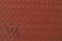 """@ Silikon-Matte mit Relief für Tortendekore """"Frieze-Bänder / Welle"""" rot"""