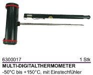 Multi-Digitalthermometer mit Einstechfühler