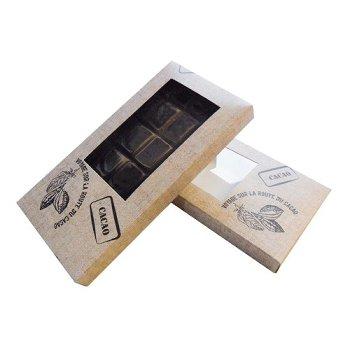 @ Tafelschokoladen-Verpackung hellbraun Design CACAO (2x25)