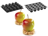 Silikon-Matte 'Tutti Frutti' 20 Apfelformen Mono (30x40cm)