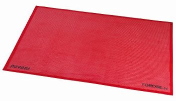 Silikon-Backmatte gelocht rot, antihaft (38,5 x 28,5cm)