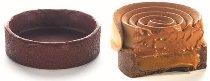 Dessert-Tartelette Schoko Rund groß (36 Stk) Butter Mürbteig