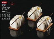 @ Silikon-Matte 3D 15 Formen 'Turn' Mono (30x40cm)
