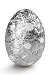 @ Pralinen-Eier Blätterkrokant milch (lose Ware) in Alu, silber