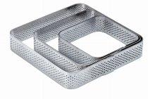Torten-/ Dessert-Ring Quadrat mikrogelocht 85/20