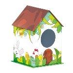 @ Verpackung 'Vogelhaus' weiß-bunt (für ca. 350g)