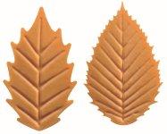 @ Schoko-Dekor Blätter weiß karamellisiert (180 Stk)