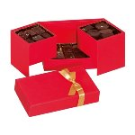 @ Pralinen-Schachtel Rechteck 'Maggy Christmas' rot mit goldener Schleife (ca.360g)