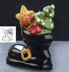 @ Gießform Weihnachtsmann 'Santa Boot' (4 Teile für 2 Stk)