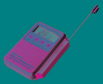 @ Digital-Thermometer mit Alarm und Edelstahlfühler