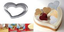 Torten-/Tartes-/ Dessert-Ring Herz mikrogelocht 160/150/20