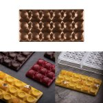 Gießform für Tafel 100g Design 'Bricks'