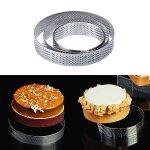 Torten-/Tartes-/ Dessert-Ring Rund mikrogelocht 90/35