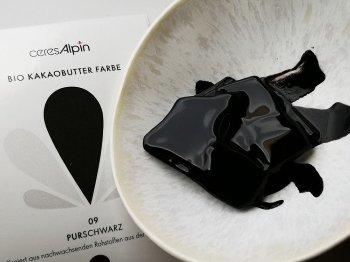 BIO Kakaobutter gefärbt schwarz | Lebensmittelfarbe nat. (50g) Chips
