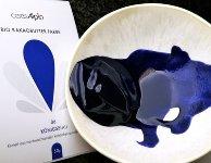BIO Kakaobutter gefärbt blau | königsblau | Lebensmittelfarbe nat. (50g) Chips