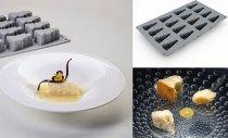 Silikon-Matte/-Form 16 Käseformen 'Cheese' (1/3GN =17,5x30cm)