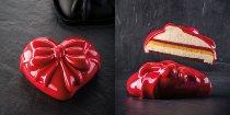 @ Silikon-Form für Kuchen 'Cadeau'   Herz mit Schelife